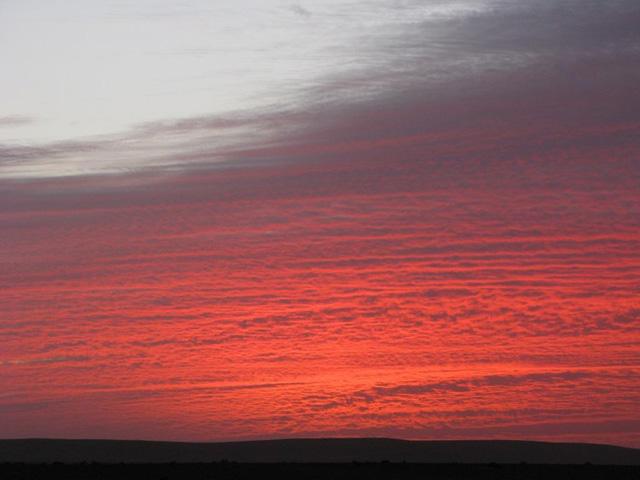 Sunset in Hamada