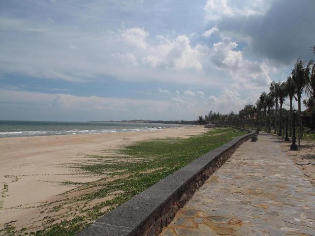 Shady trees, Ho Coc beach