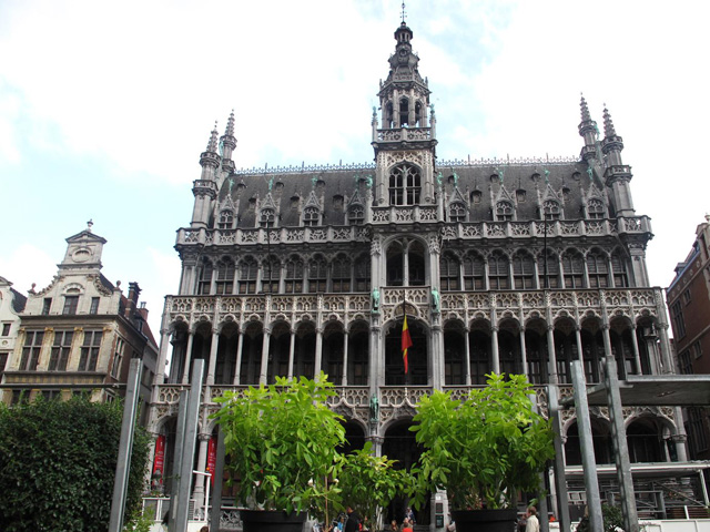 The Broodhuis (Breadhouse), or Maison du Roi (King's House), Grand Place central square of Brussels, Belgium