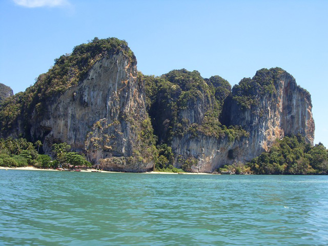 Railay Beach cliffs