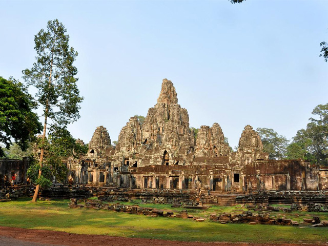Bayon Temple's West side, Angkor Thom