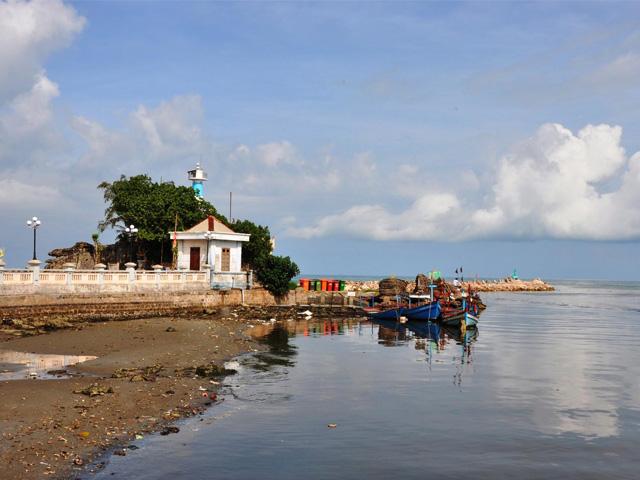 Back side, Dinh Cau Temple