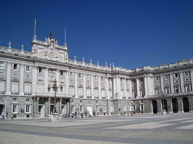 The Palacio Real de Madrid, official residence of the King of Spain