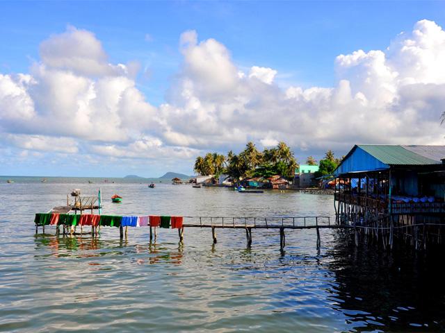 Stilt houses, Ham Ninh fishing village