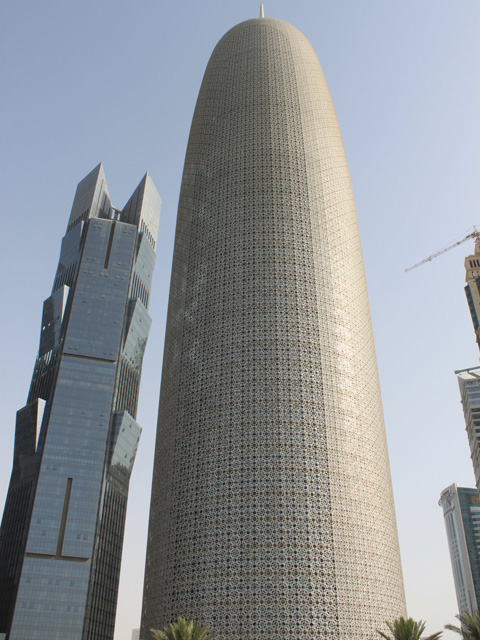 Burj Qatar Tower in West Bay (232m / 761 fees), Commercial office in Doha, Qatar