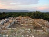 Foundations of the ancient Greek watch-tower Maslinovik, Stari Grad Plain