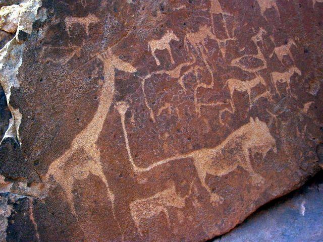Pétroglyphes d'animaux