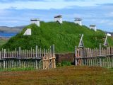 Norse long house, l'Anse aux Meadows