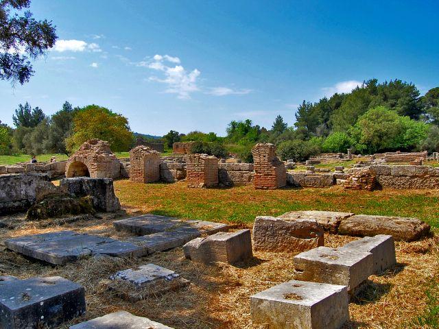 Anciennes ruines d'Olympie