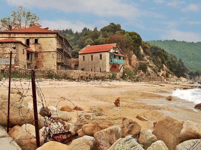 Frontière entre la Grèce et la Sainte Montagne