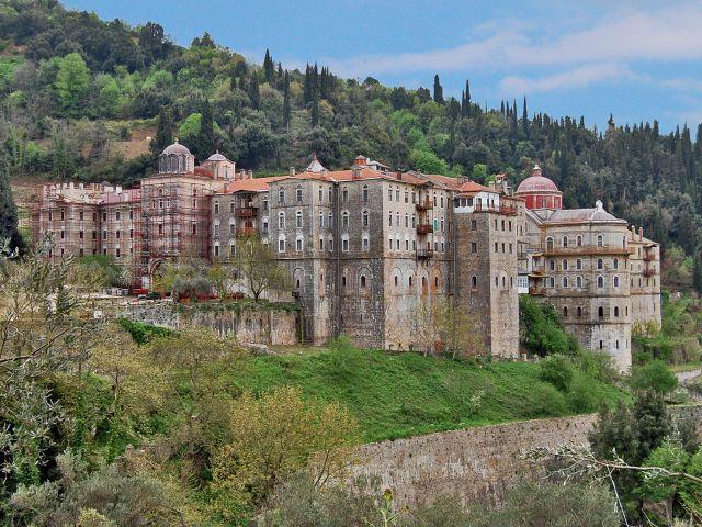 Vue extérieur du monastère de Zographou