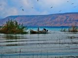 Fishermen on lake Tiberias