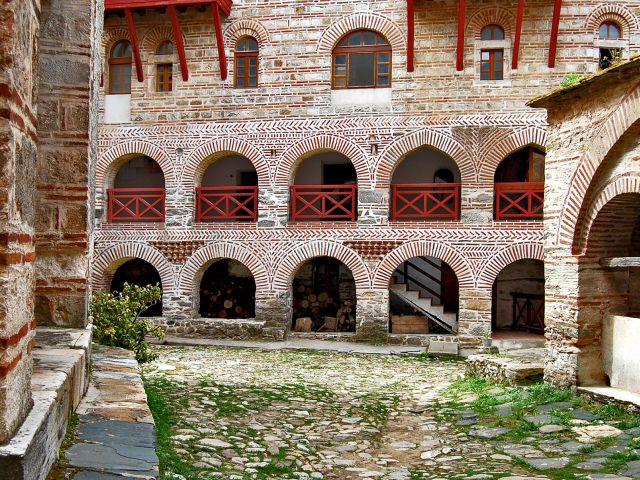 Cour intérieure du monastère de Hilandar