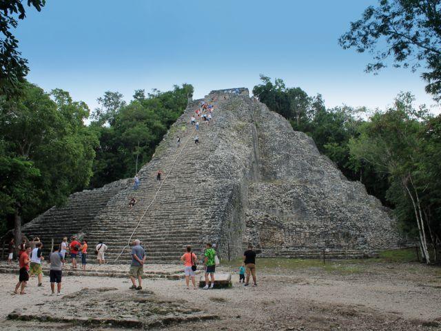 Pyramide Nohoch Mul à Cobá