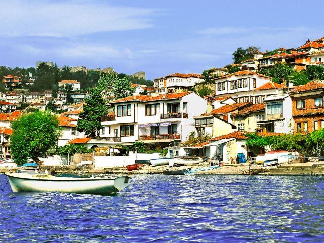 Maisons pittoresques à Ohrid