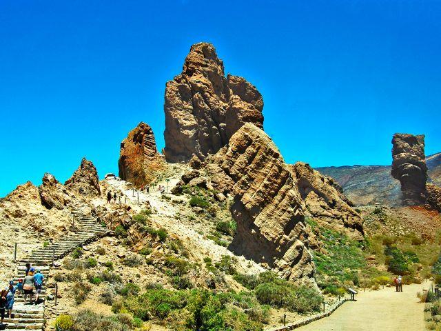 Formations rocheuses du parc national du Teide