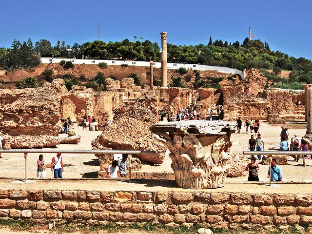 Ruines des thermes à Carthage