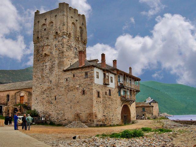 Ancrage du monastère Zograf