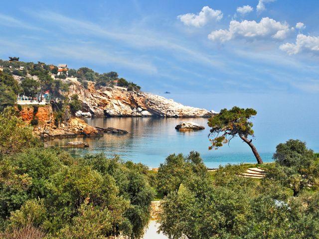 Petite plage sur l'île de Thasos