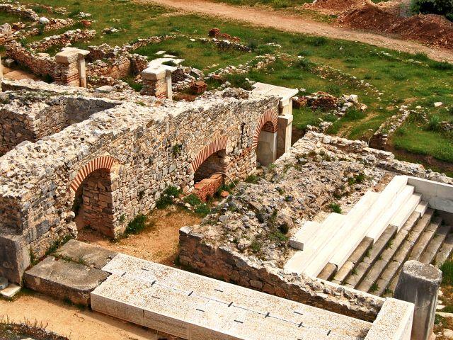 Vue du site archéologique de Philippes