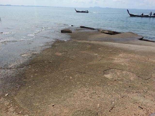 Site de Fossil de mollusques Laem Pho