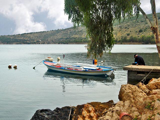 Vieux pêcheur, village de Menidi