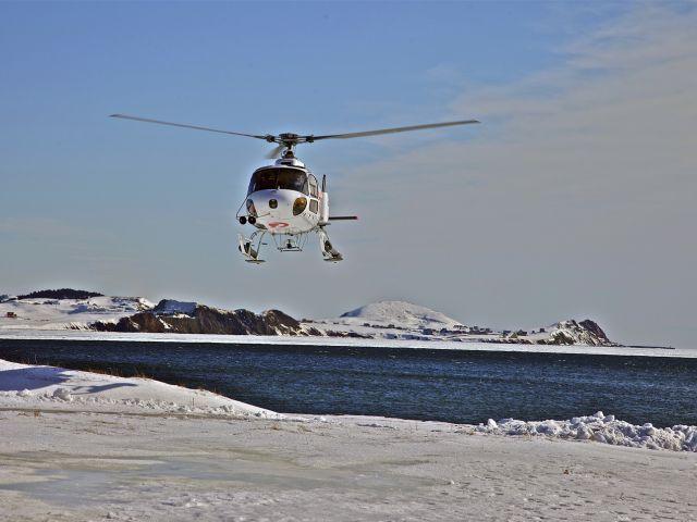Direction la banquise en hélicoptère