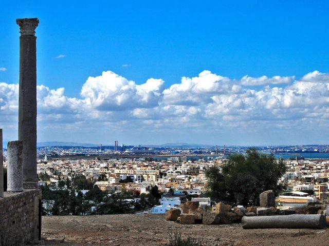 Vue depuis Carthage