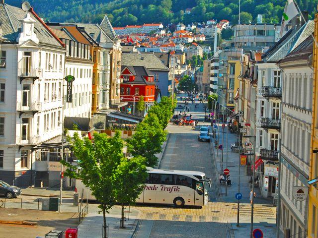 Vue de Bergen depuis la Johanneskirken