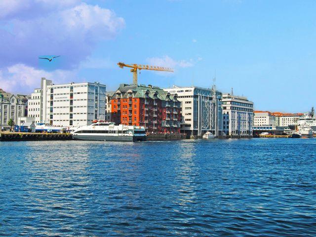 Vue du port de Bergen