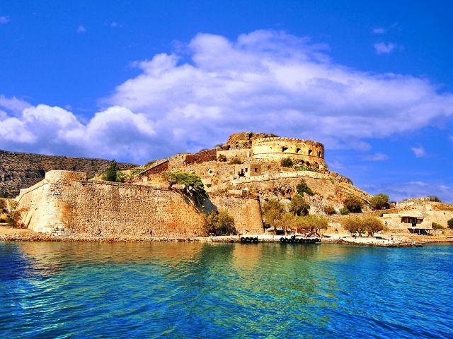 Vue de l'île Spinalonga