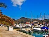 Yachts port in Pollença