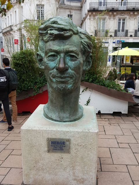 Hergé statue in Angoulême