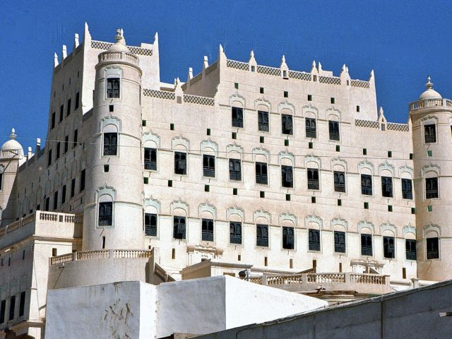 Palais du sultan à Shibam
