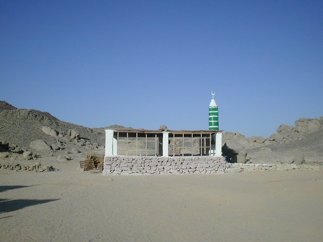 Mosque in the egyptian desert
