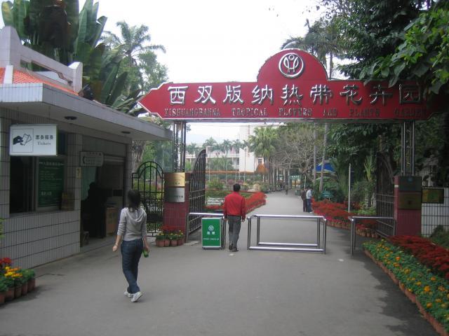Jardin des fleurs et plantes tropicales