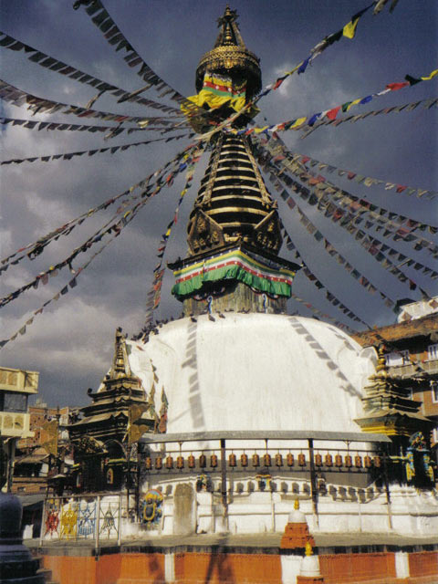 The stupa of Svayambhunath