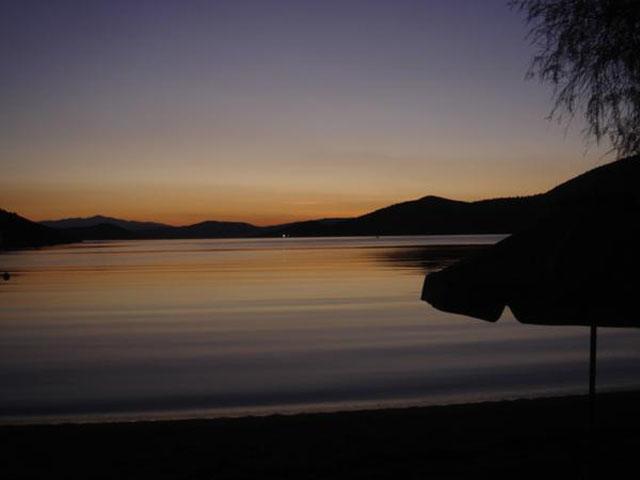 Sunrise in almuropotamos euvoias