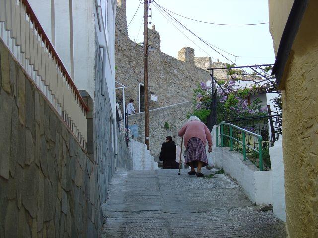 Kavala's narrow streets