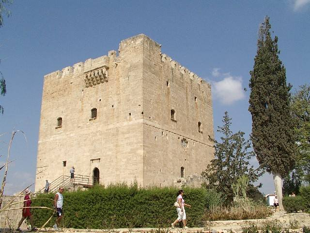 Castle of Kolossi or Kolossi Castle, stronghold a few kilometers outside the city of Limassol on the island of Cyprus