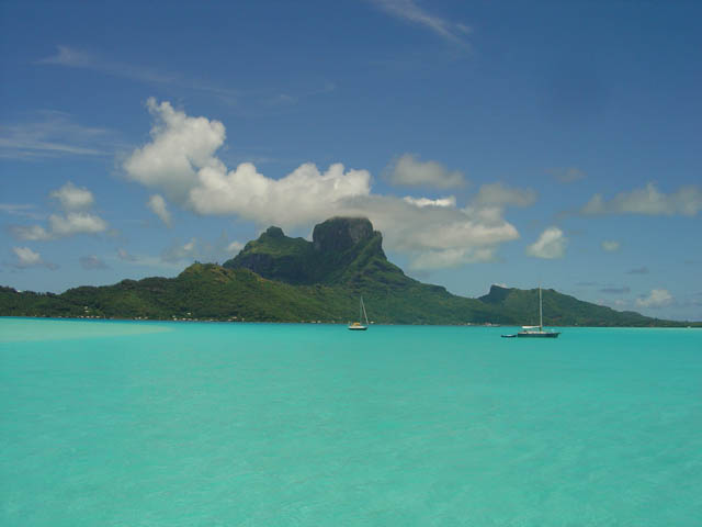 BoraBora Island and Lagoon