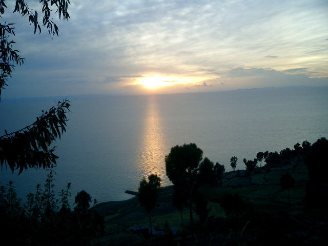 Island of the Sun, sunset