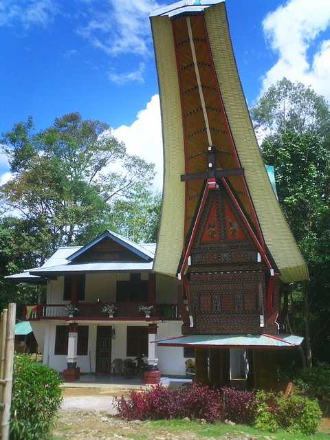 Toraja rice greenery house