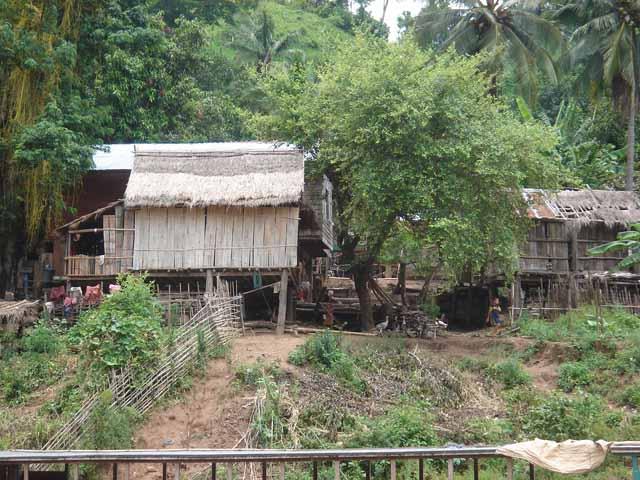 House on the Mekong bank