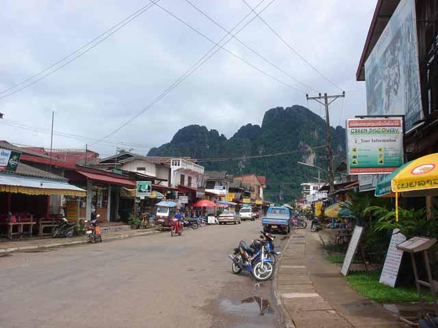 Street of Vang Vieng