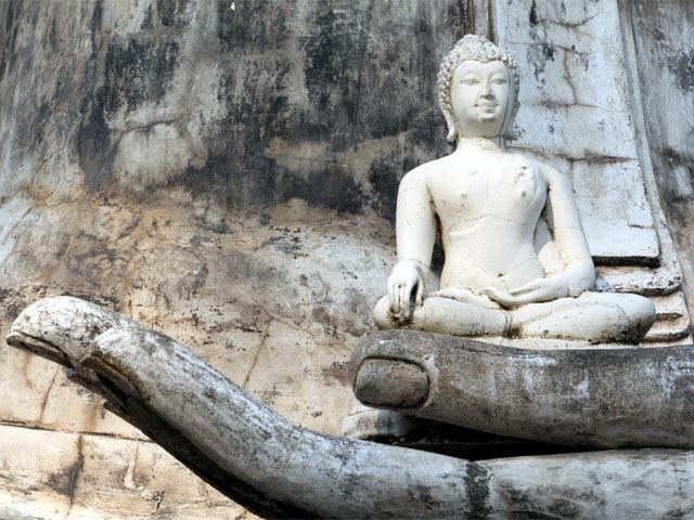 Buddha Statue in Buddha Hand