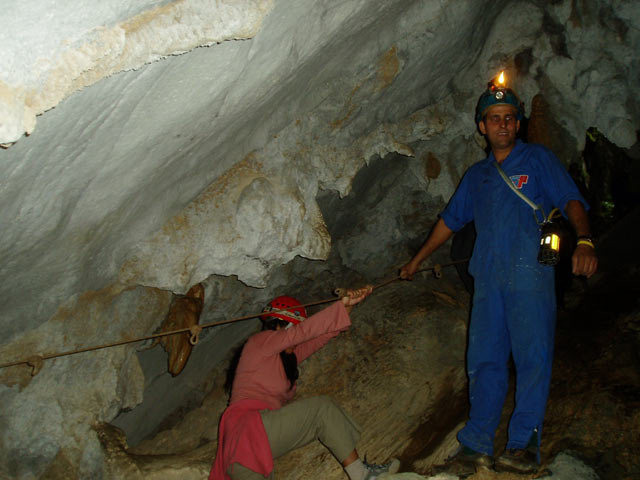Inside Saint Thomas cave