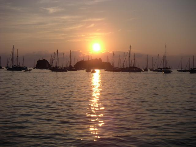 Gustavia harbour sunset